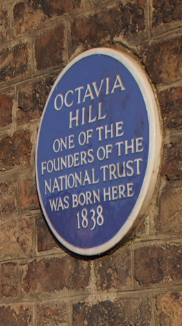 The plaque at the Birthplace House